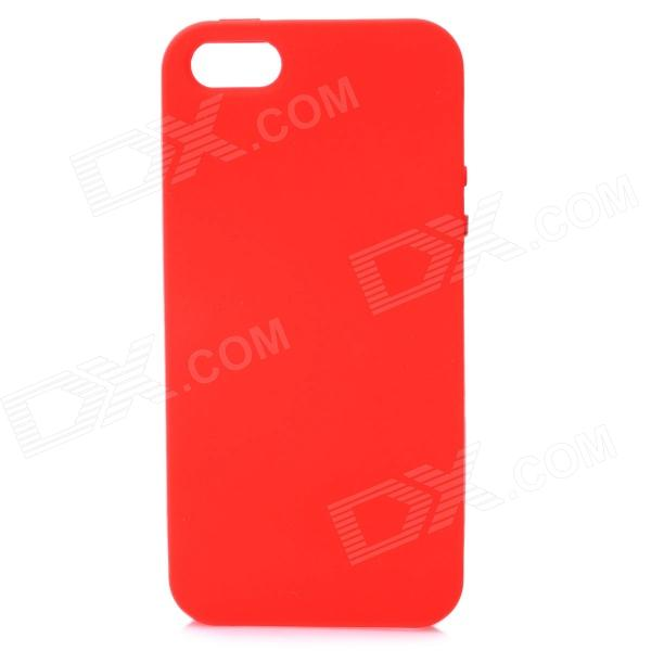 Protective Soft Silicone Back Case for Iphone 5 - Red stylish bubble pattern protective silicone abs back case front frame case for iphone 4 4s