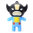 02 Cartoon Style USB 2.0 Flash Drive - Black + Blue (16GB)