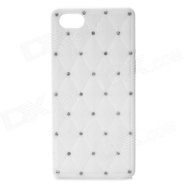 Protective Soft Silicone Back Case with Crystalfor Iphone 5 - White protective silicone soft back case cover for iphone 5 white