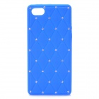 Protective Soft Silicone Back Case with Crystalfor Iphone 5 - Blue