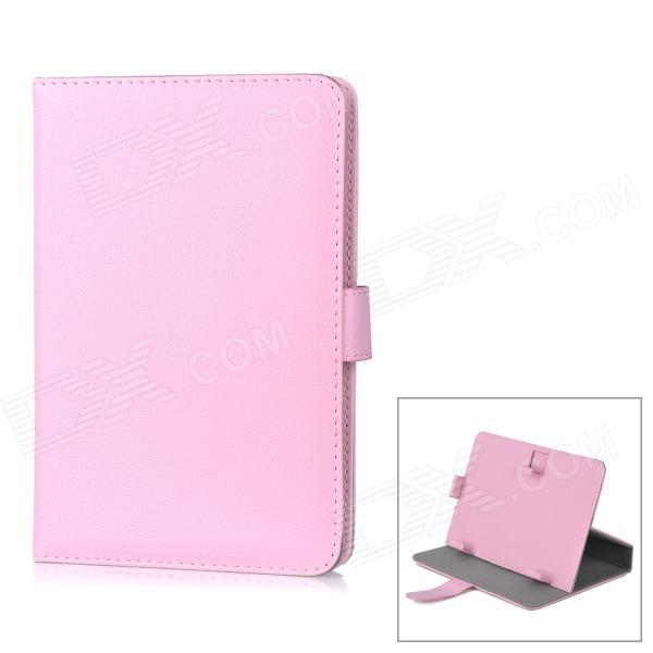 Universal Protective PU Leather Case for 7 Tablet PC - Pink protective pu leather case for 9 7 tablet pc deep pink