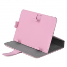 "Universal Protective PU Leather Case for 7"" Tablet PC - Pink"