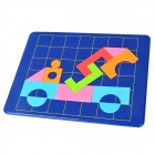 DIY Geometric Figure Pattern Magnetic Jigsaw Puzzle Toy Set - Multicolored