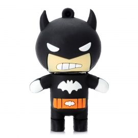 08 Cartoon Style USB 2.0 Flash Drive - Black (4GB)