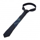 Fashion Polyester Man's Decoration Hemming Neck Tie - Black