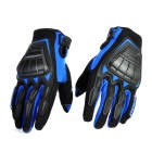 Scoyco MC08-L Full-Fingers Motorcycle Racing Gloves - Blue + Black (Pair / Size L)