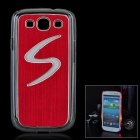S Pattern Protective Case w/ Caller Signal Flashing LED for Samsung Galaxy S3 i9300 - Red