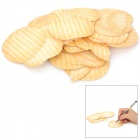 Potato Chips Shape Memo Pad - Yellow + White (90-Page)