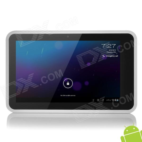 "PD10 7.0"" Capacitive Touch Screen Android 4.0 3G Tablet PC Phone w/ Bluetooth / 2-SIM - White"
