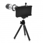 Detachable 12X Telephoto Lens Set for Iphone 4 / 4S - Black + Silver
