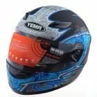 YEMA 823 Motorcycle Riding Safety Helmet - Blue (Size L)