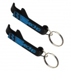 Multi-Function Beer / Bottle / Can Opener with Key Ring - Black (2 PCS)