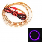 2.5W 50lm 45-SMD 3528 LED Pink Purple Light Car Decoration Flexible Strip Lamp (12V)