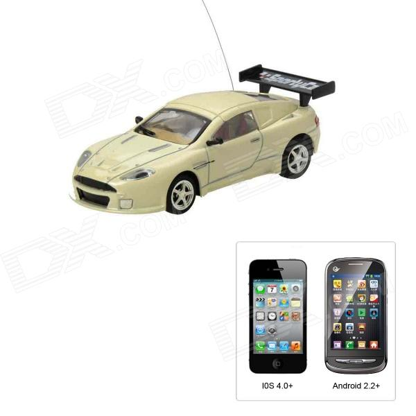 Aston Martin Style 4-CH Iphone & Android Remote Controlled R/C Car - Beige (1 x 1100mAh Battery)