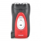 Genuine POVOS 7523 Electric Rechargeable Dual-Head Reciprocating Shaver Razor - Black + Red