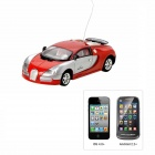 1:43 Bugatti Style 4-CH Iphone & Android Remote Controlled R / C Car - Rot (1 x 1100mAh Batterie)
