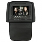 "7"" HD LCD Screen Car Headrest DVD Media Player w/ FM / AV-Out / SD / Game - Black (DC 12V / 2PCS)"