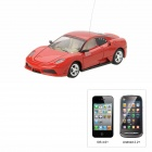 01.43 Porsche Style 4-CH Iphone & amp; Android Remote Controlled R / C Car - Rot (1 x 1100mAh Batterie)