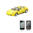 01.43 Porsche Style 4-Kanal Iphone & amp; Android Remote Controlled R / C Car - Gelb (1 x 1100mAh Batterie)
