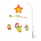 Various Animals Style Polyester Baby Bed Music Bell - Orange