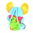 Cute Elephant Style Baby Polyester Music Box Doll - Blue + Orange + Pink