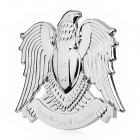 Cool 3D Lanner Falcon Style Aluminum Alloy Car Refitting Sticker - Silver