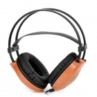 SA-803 Stereo Headset Headphone - Brown + Black (3.5mm Plug)
