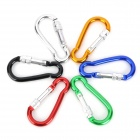 Outdoor Aluminum Alloy Locking Carabiner Clips - Multicolord (6PCS)