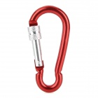 Outdoor Sports Aluminum Alloy Locking Carabiner Clips (6 PCS)