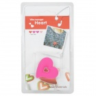 Cute Heart Shape Silicone Earphone Cord Cable Winder Organizer - Pink + White