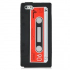 Protective Cassette Style Silicone Back Case for Iphone 5 - Black