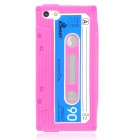 Protective Cassette Style Silicone Back Case for iPhone 5 - Deep Pink