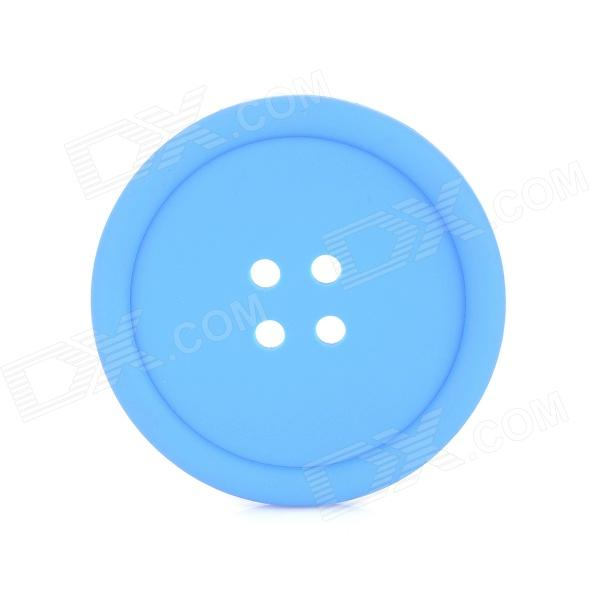 Button Style Silicone Coaster - Blue Midland Продам товары