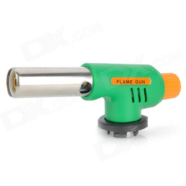 Multi-Function Camping Welding Gas Torch Flame Gun - Silver + Green + Orange