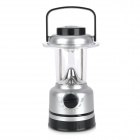 Multi-Function 15-LED White Light Bivouac Lantern Lamp w/ Compass - Silver + Black (3 x AA)
