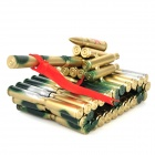 Creative Metal Bullet Shell Handicraft Mini Tank Display Model - Golden + Green + Silver