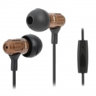 JBM MJ710 3.5mm Plug In-Ear Earphone w/ Microphone - Coffee