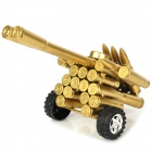 Creative Metal Bullet Shell Handicraft Double-Barreled Cannon Display Model - Golden