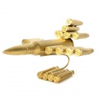 Creative Metal Bullet Shell Handicraft Airplane Display Model - Golden