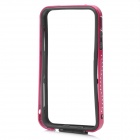 Protective Aluminum Alloy + Plastic Bumper Frame for Iphone 4 / 4S - Deep Pink + Black