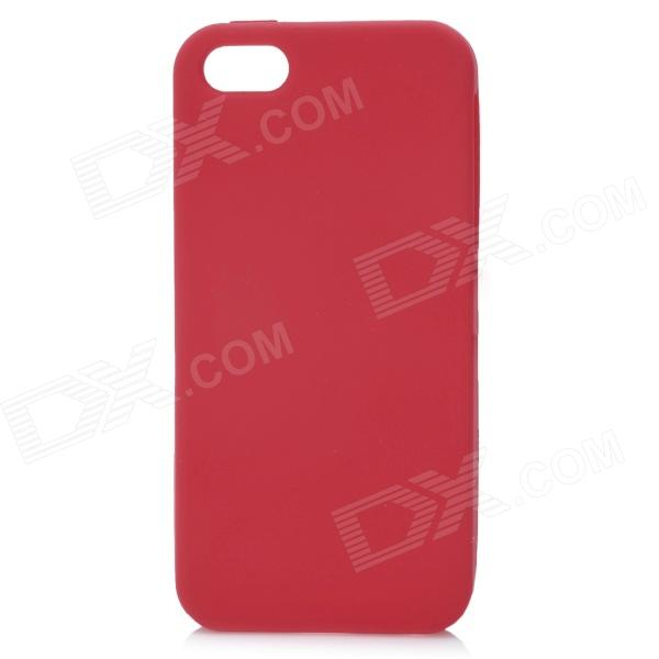 Protective Silicone Back Case for Iphone 5 - Red