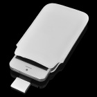 Protective PU Leather Pouch Case for Iphone 5 - White