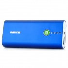 5600mAh External Mobile Power Battery Charger w/ 7 Adapters / LED Flashlight - Blue