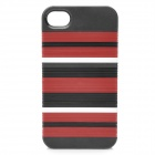 DIY Protective PC Stripes Back Case w/ 13 Extra Stripes for Iphone 4 / 4S - Black