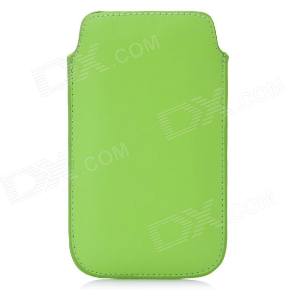 Protective PU Leather Pouch Case for Iphone 5 - Green protective pu leather pouch case for iphone 5 black