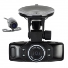 "X10 1.5"" TFT Dual-Lens 1.3MP CMOS Wide Angle Car DVR Camcorder w/ 4-IR LED - Black"