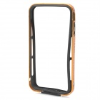 Protective Aluminum Magnesium Alloy Bumper Frame for iPhone 4 / 4S - Golden + Black