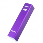 2200mAh External Mobile Power Battery Charger w/ 7 Adapters / LED Flashlight - Purple
