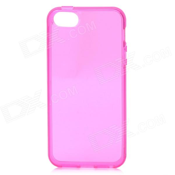Protective Plastic Back Case for Iphone 5 - Translucent Deep Pink чехол для iphone 7 глянцевый printio skull art