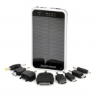 3600mAh Solar Powered Rechargeable Emergency Charger w/ Flashlight & Cellphone Adapters - Purple